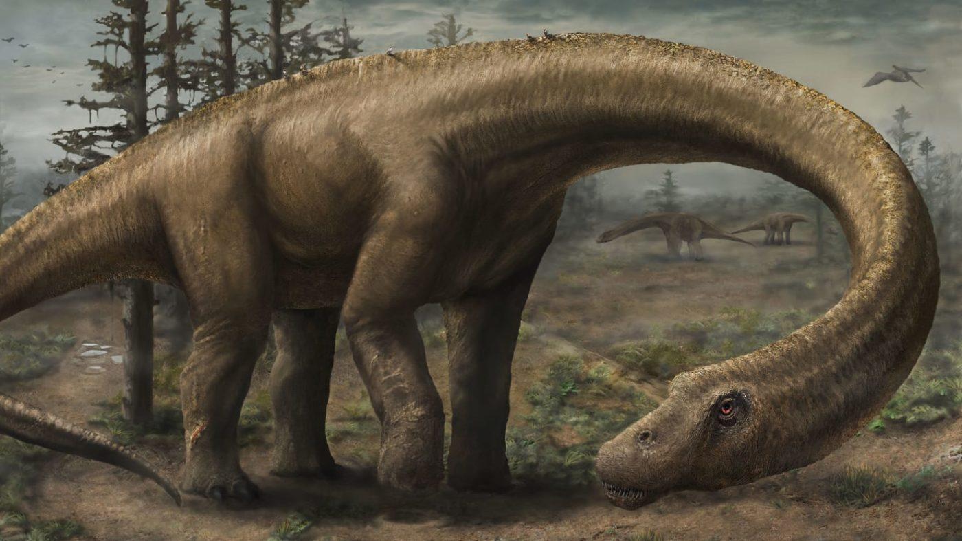 Следы гигантских динозавров обнаружены на потолке пещеры