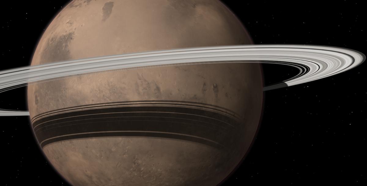 Марс, возможно, в прошлом имел кольца