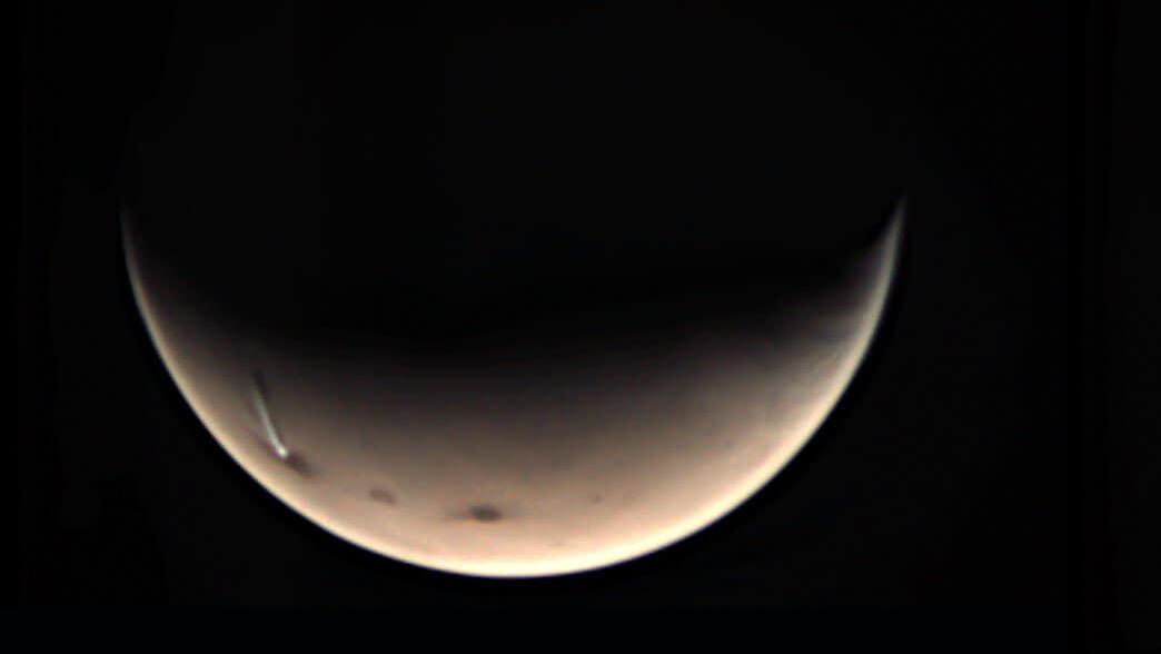 Что за странное облако, замеченное на Марсе несколько дней назад?
