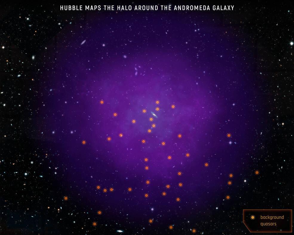 Гало Андромеды уже соприкасается с гало Млечного Пути
