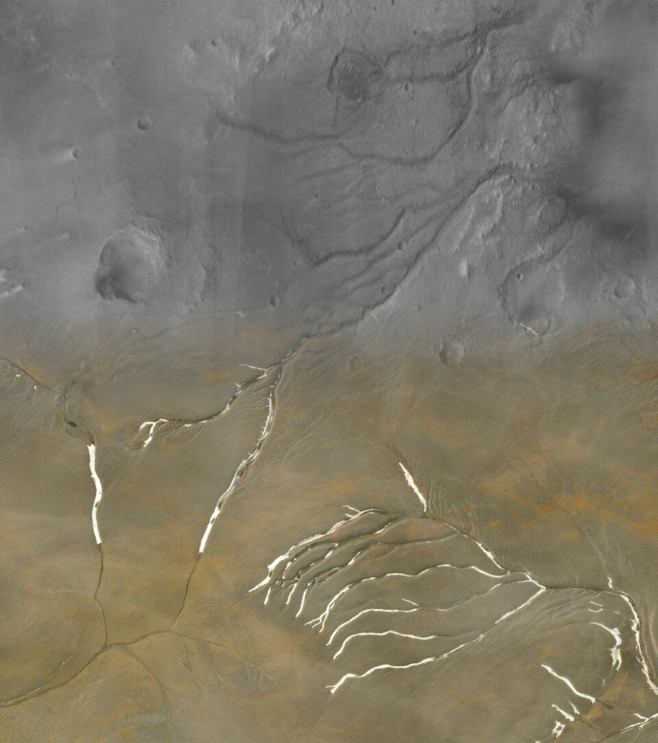 Древний Марс, возможно, был покрыт льдом
